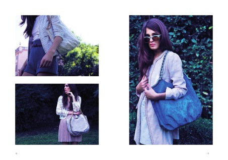 Campaign Makeup and Hair for L'Aura Bags
